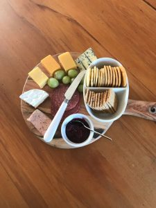 Cheese board available at Leithfield Beach Holiday Park